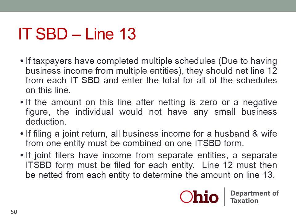 IT SBD – Line 13