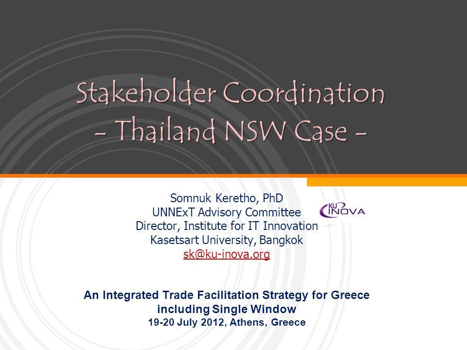Stakeholder Coordination - Thailand NSW Case -