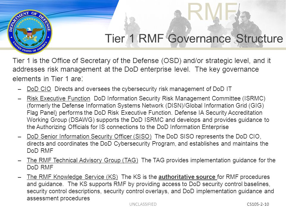 Tier 1 RMF Governance Structure