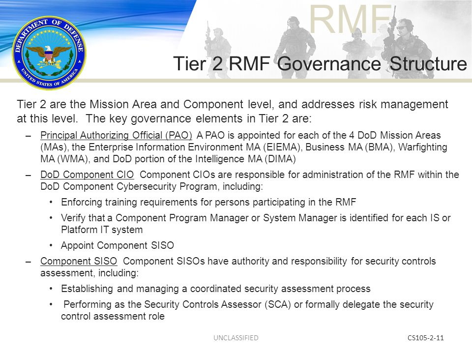 Tier 2 RMF Governance Structure