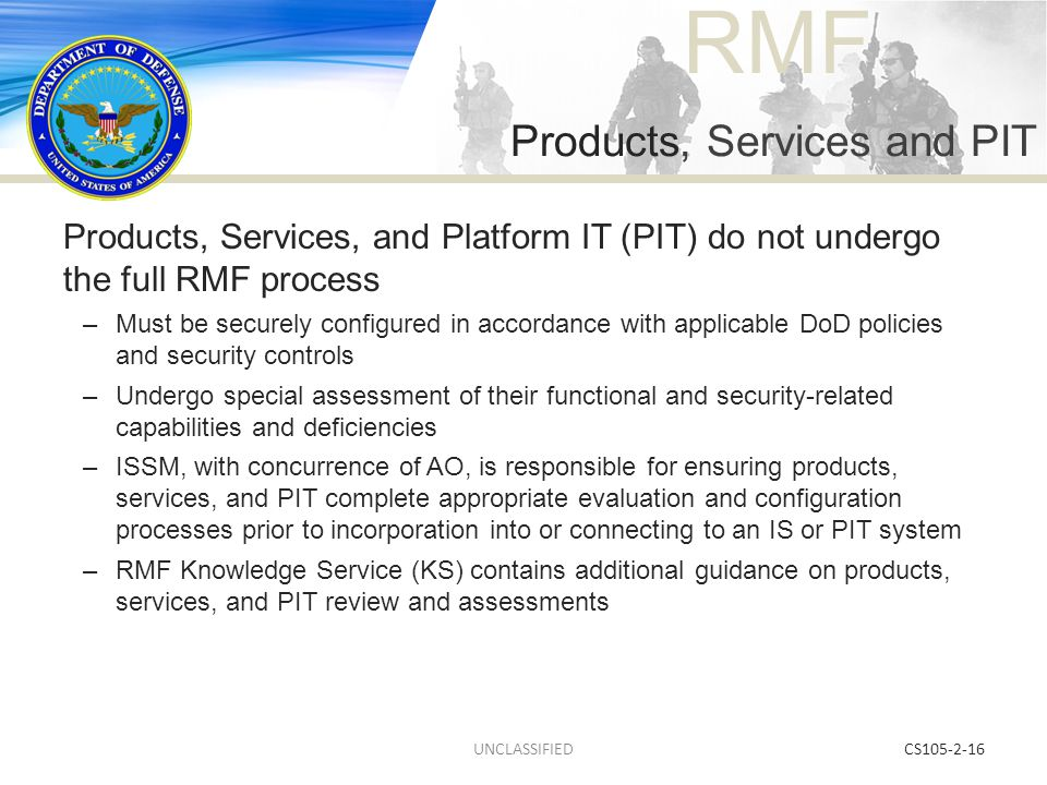 Products, Services and PIT