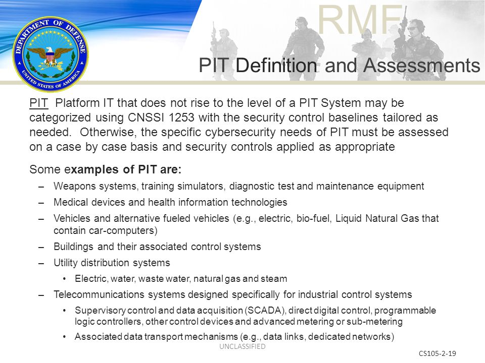 PIT Definition and Assessments