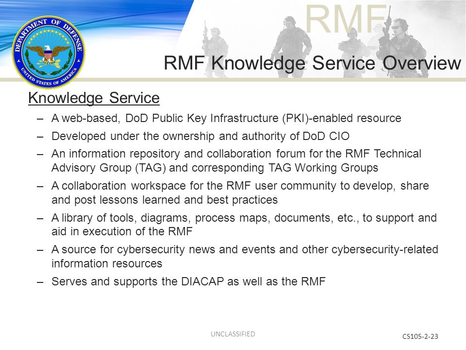 RMF Knowledge Service Overview