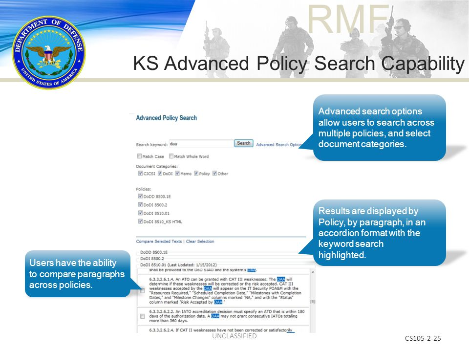 KS Advanced Policy Search Capability