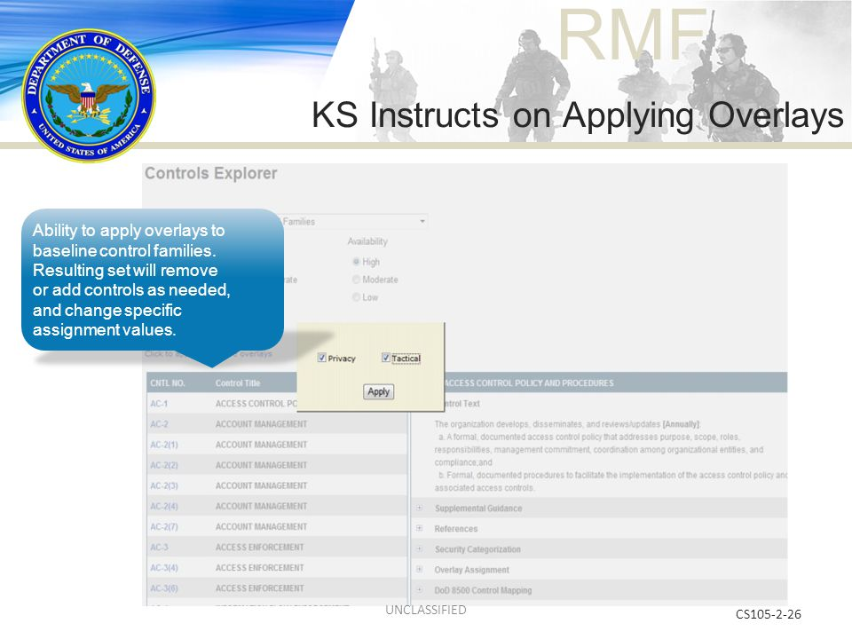 KS Instructs on Applying Overlays