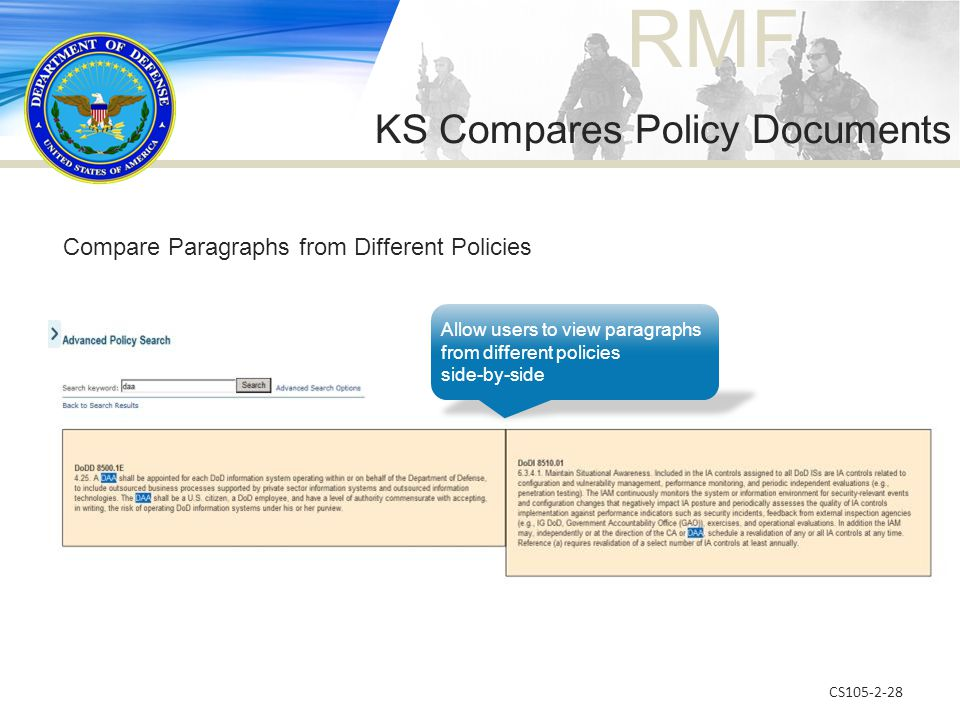 KS Compares Policy Documents
