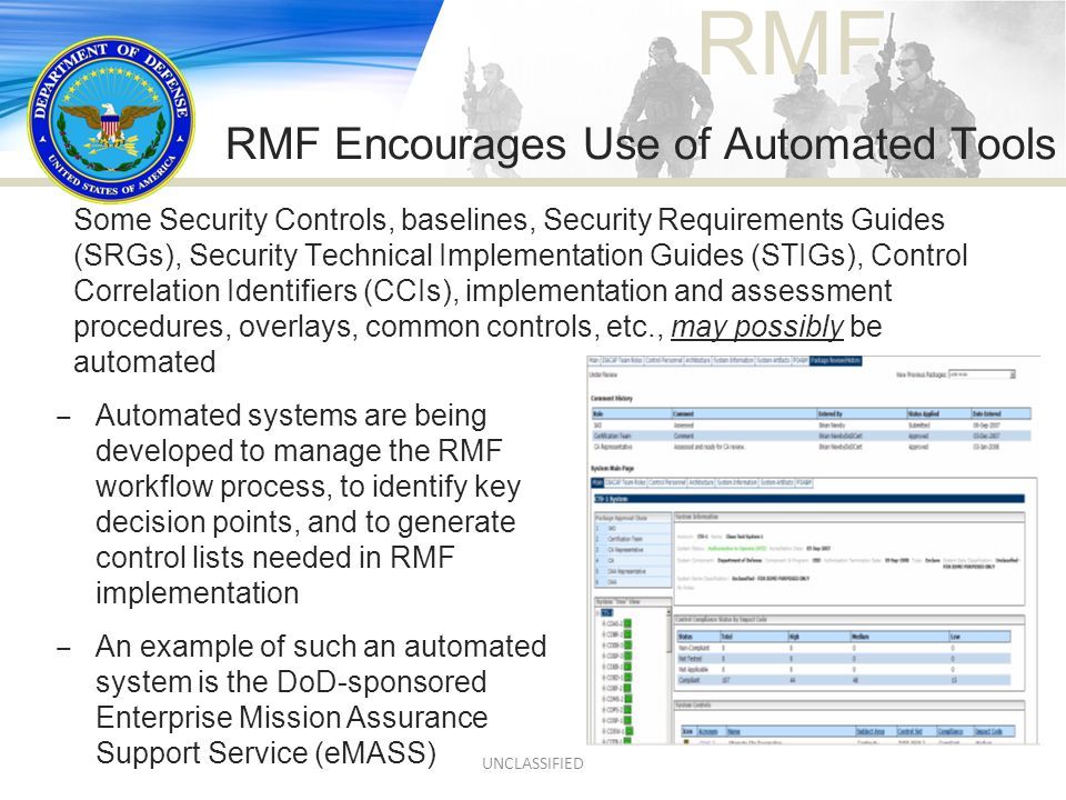 RMF Encourages Use of Automated Tools