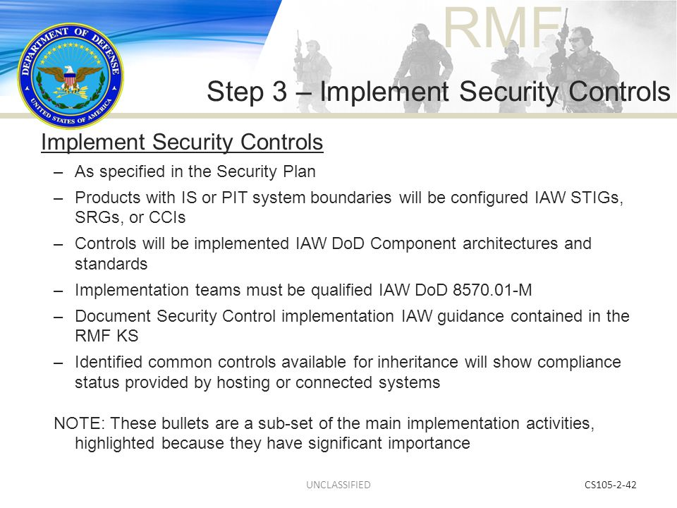 Step 3 – Implement Security Controls