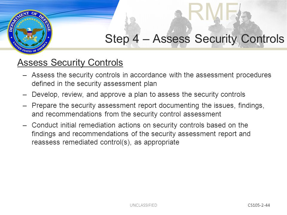 Step 4 – Assess Security Controls