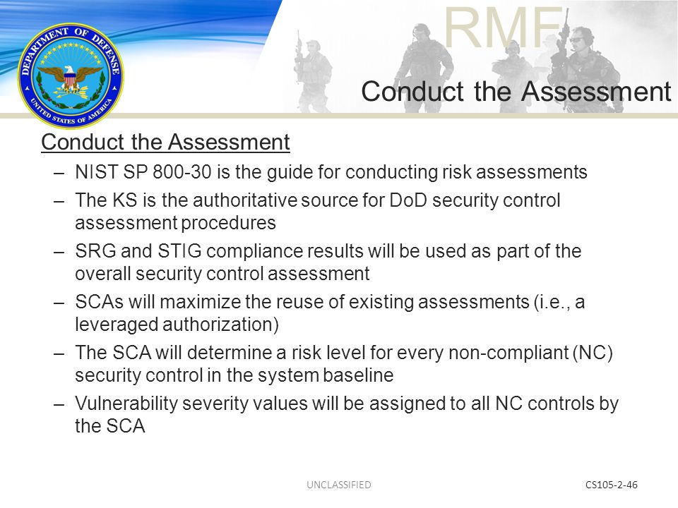 Conduct the Assessment