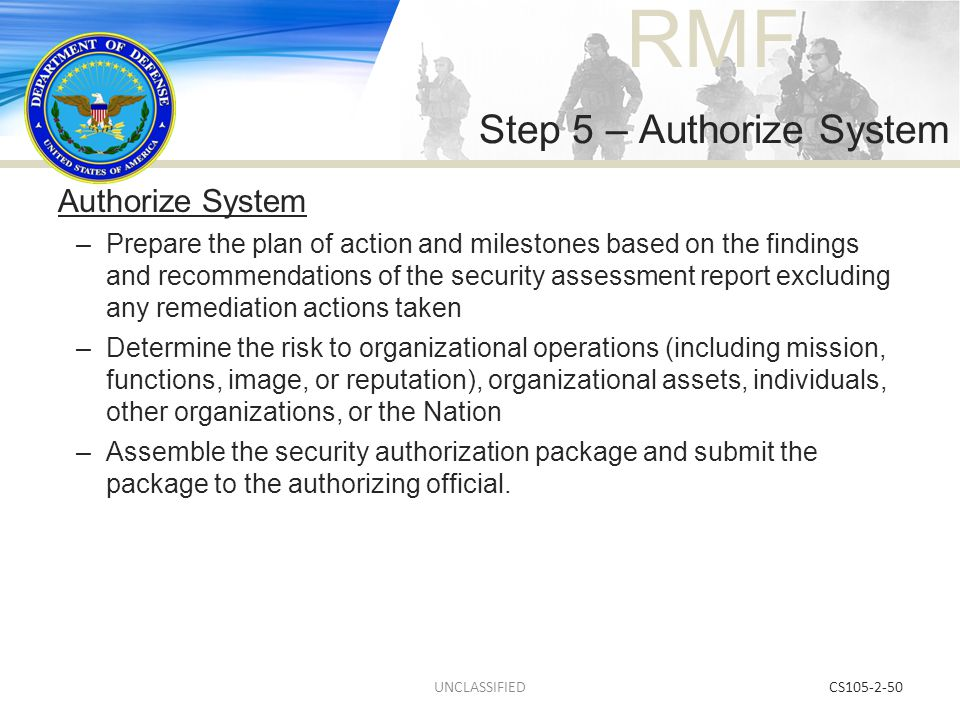 Step 5 – Authorize System