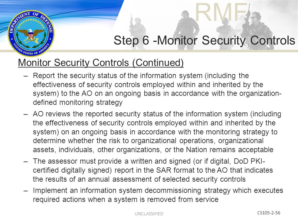 Step 6 -Monitor Security Controls