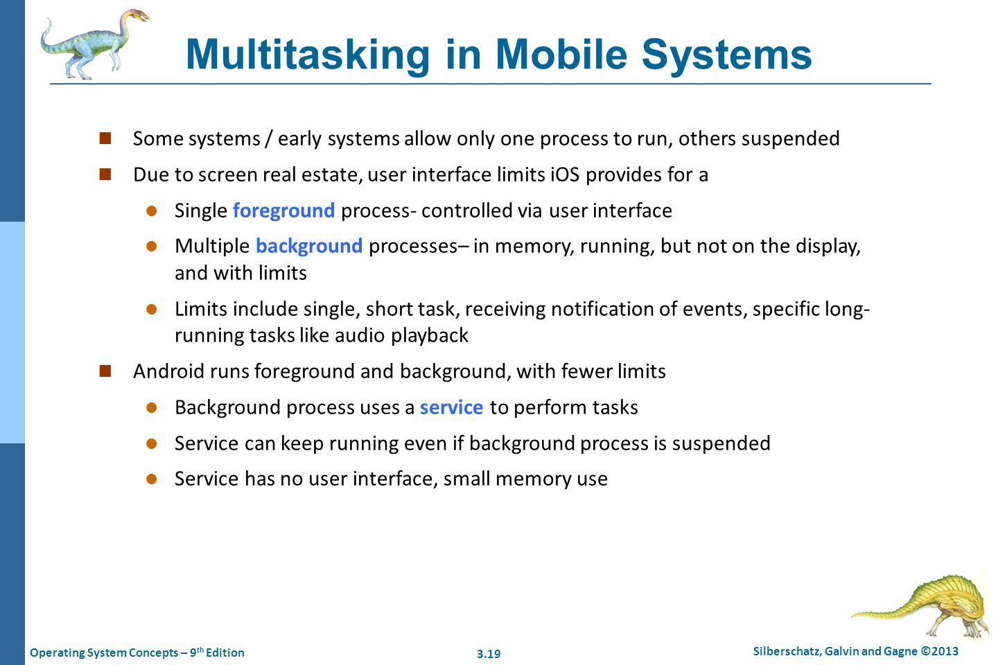 Multitasking in Mobile Systems