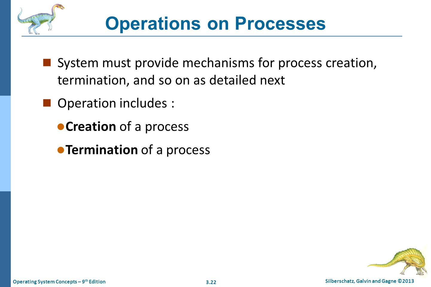 Operations on Processes