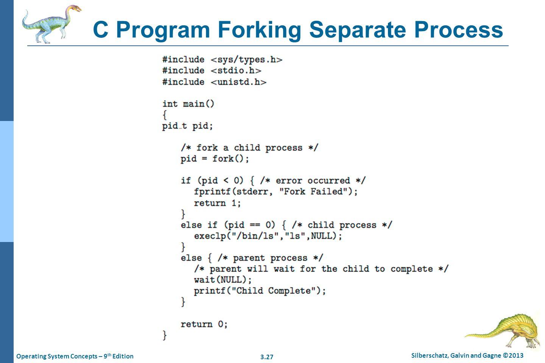 C Program Forking Separate Process