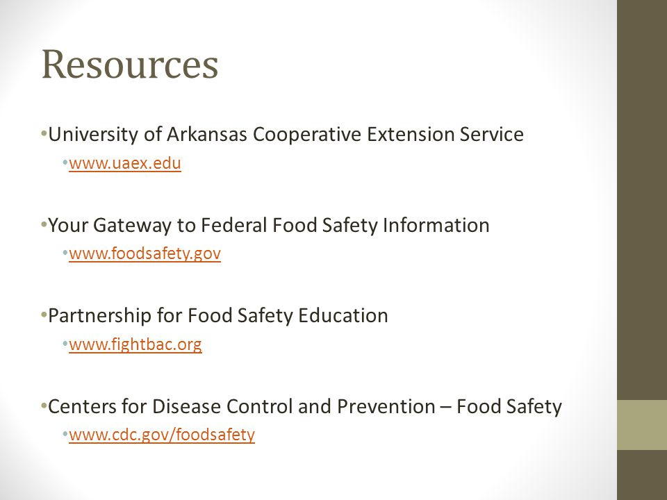 Resources University of Arkansas Cooperative Extension Service