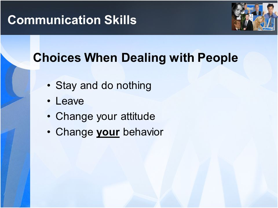 Choices When Dealing with People