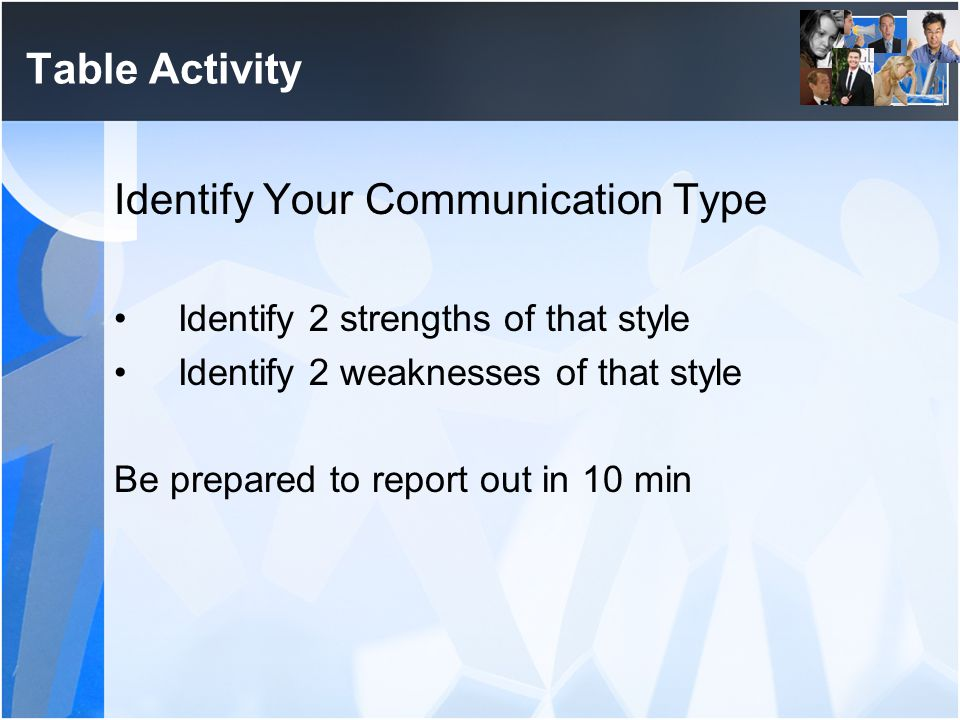 Identify Your Communication Type