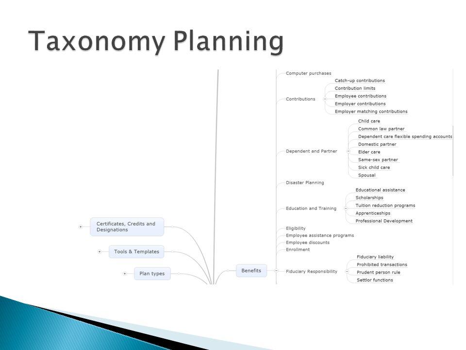 Taxonomy Planning