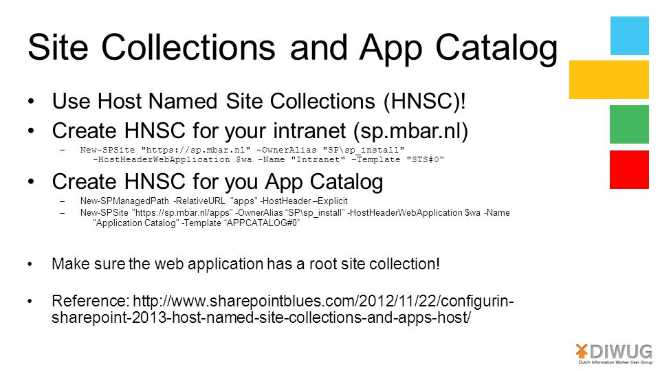 Site Collections and App Catalog
