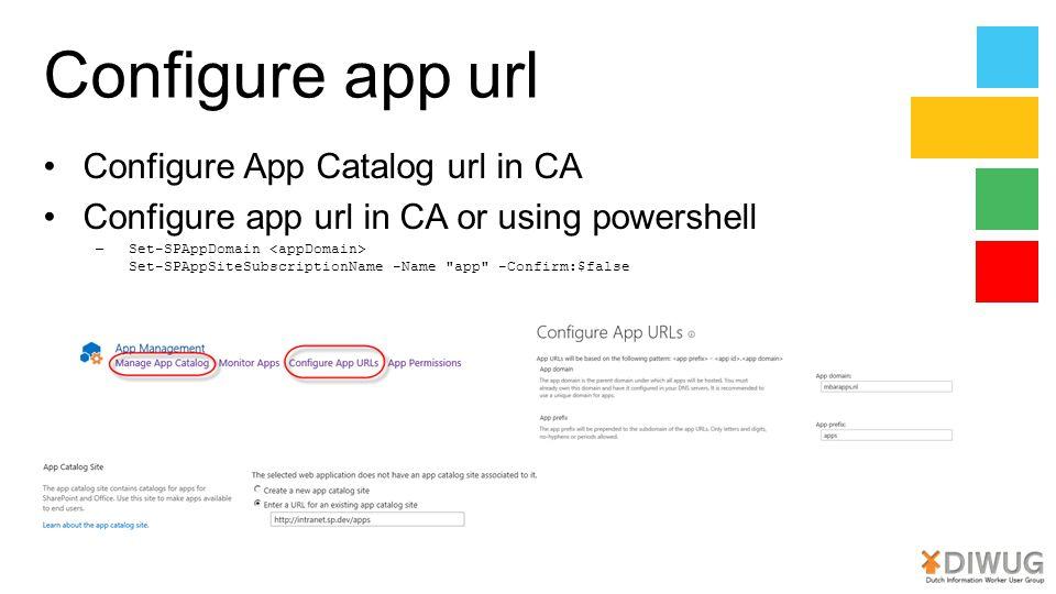 Configure app url Configure App Catalog url in CA