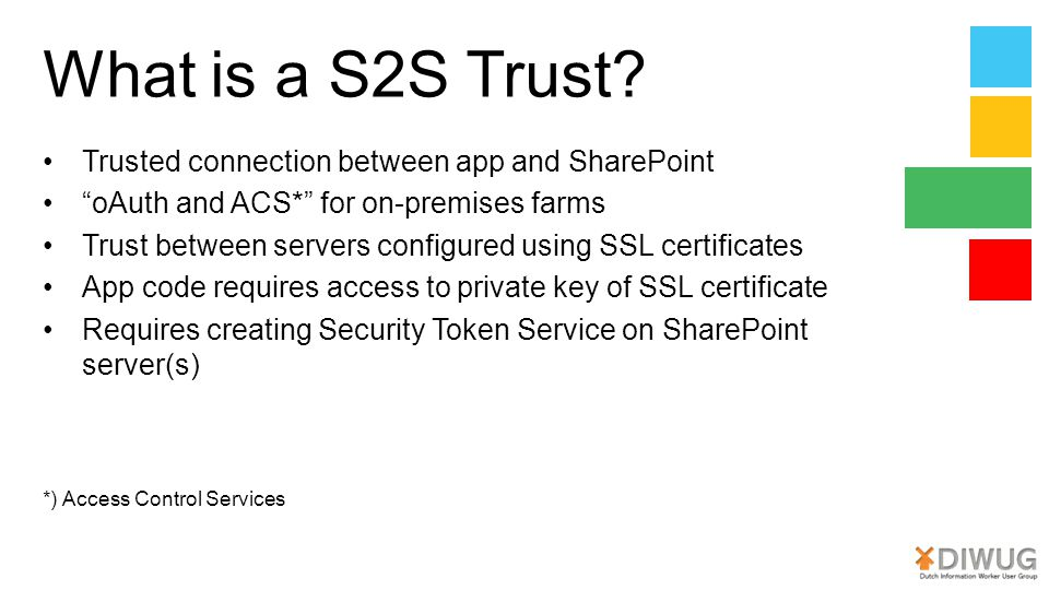 What is a S2S Trust Trusted connection between app and SharePoint
