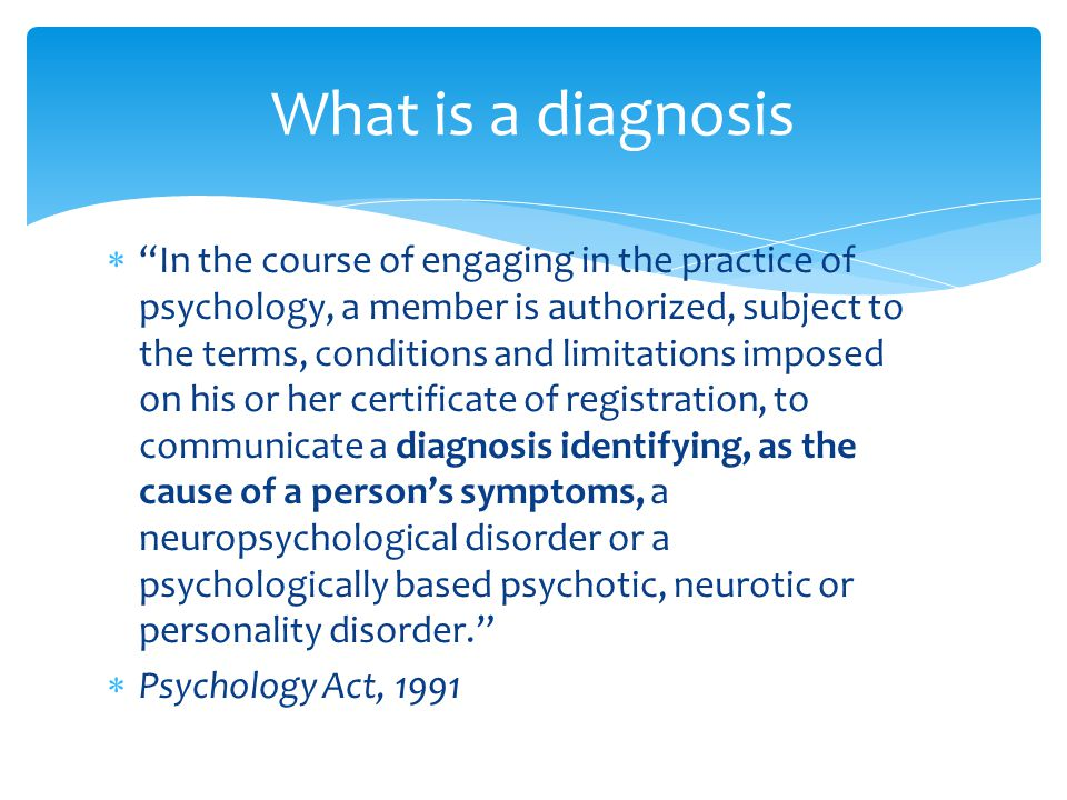 What is a diagnosis