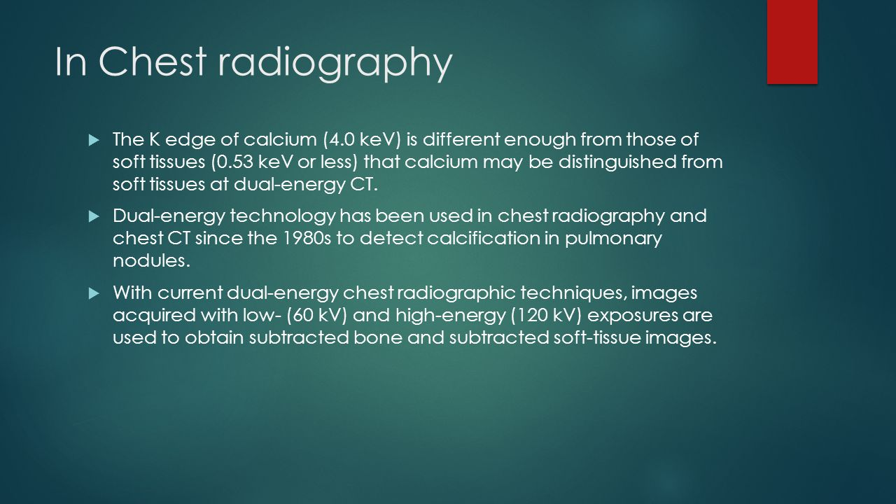 In Chest radiography