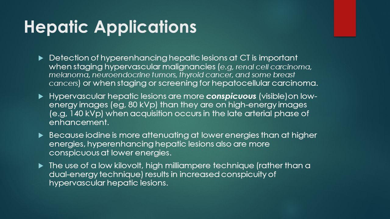 Hepatic Applications