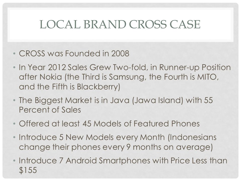 LOCAL BRAND CROSS CASE CROSS was Founded in 2008