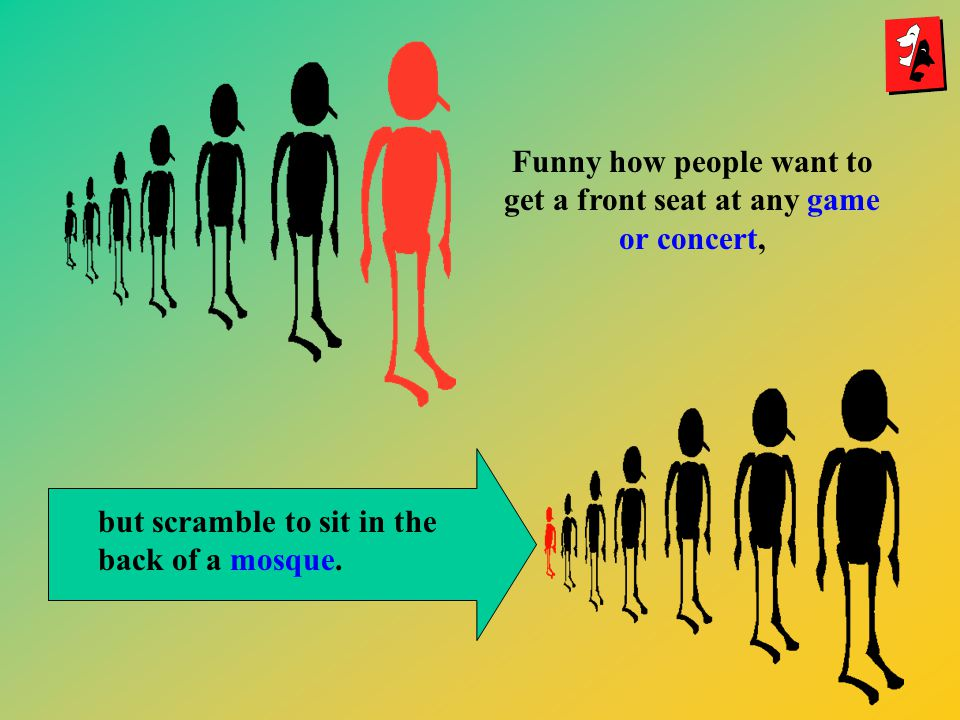 Funny how people want to get a front seat at any game or concert,