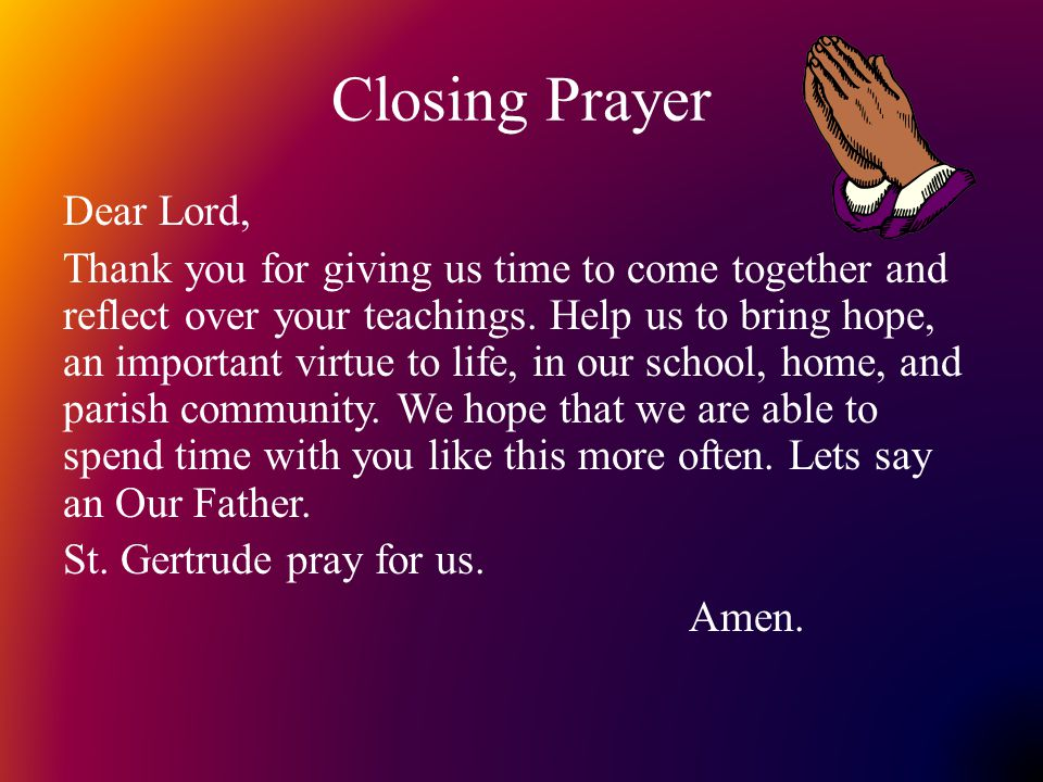 Closing Prayer Related Keywords & Suggestions - Closing Prayer Long