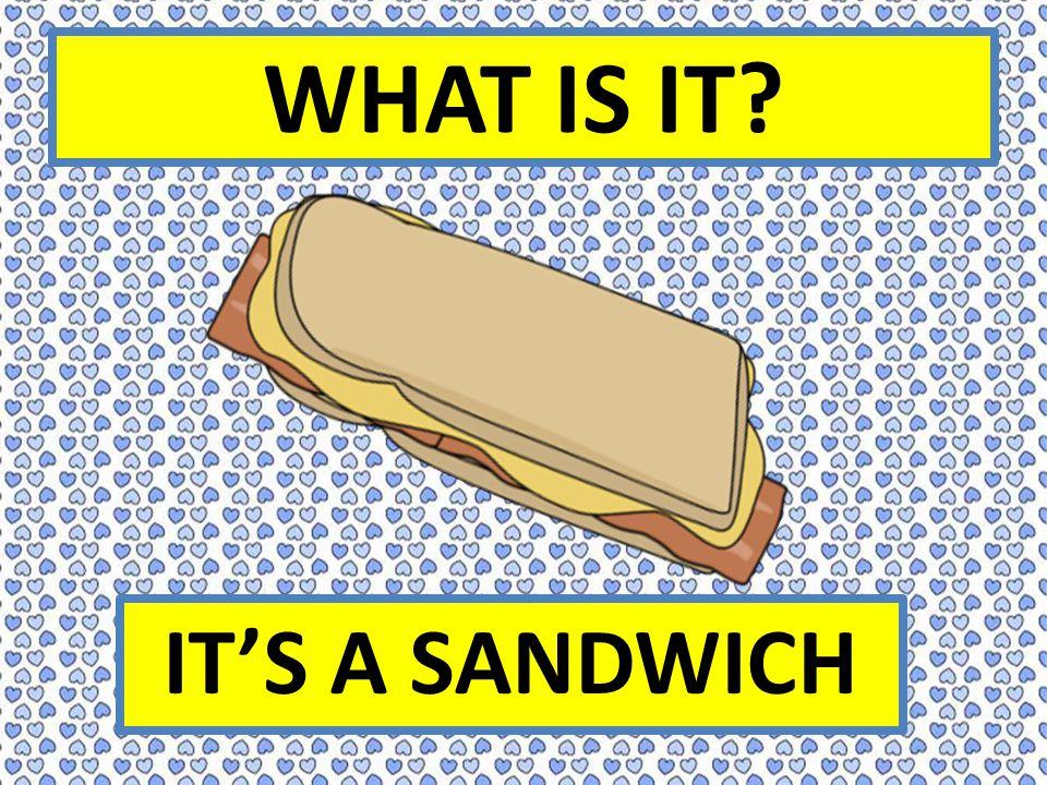 WHAT IS IT IT'S A SANDWICH