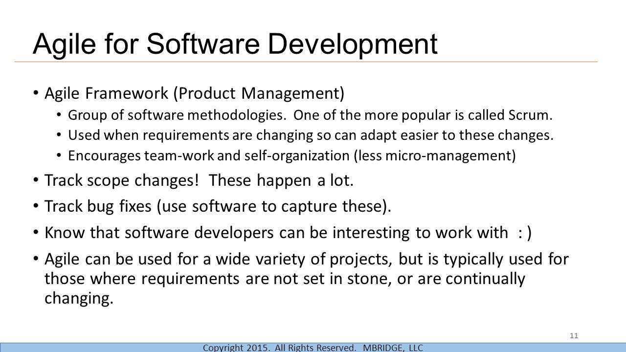Agile for Software Development