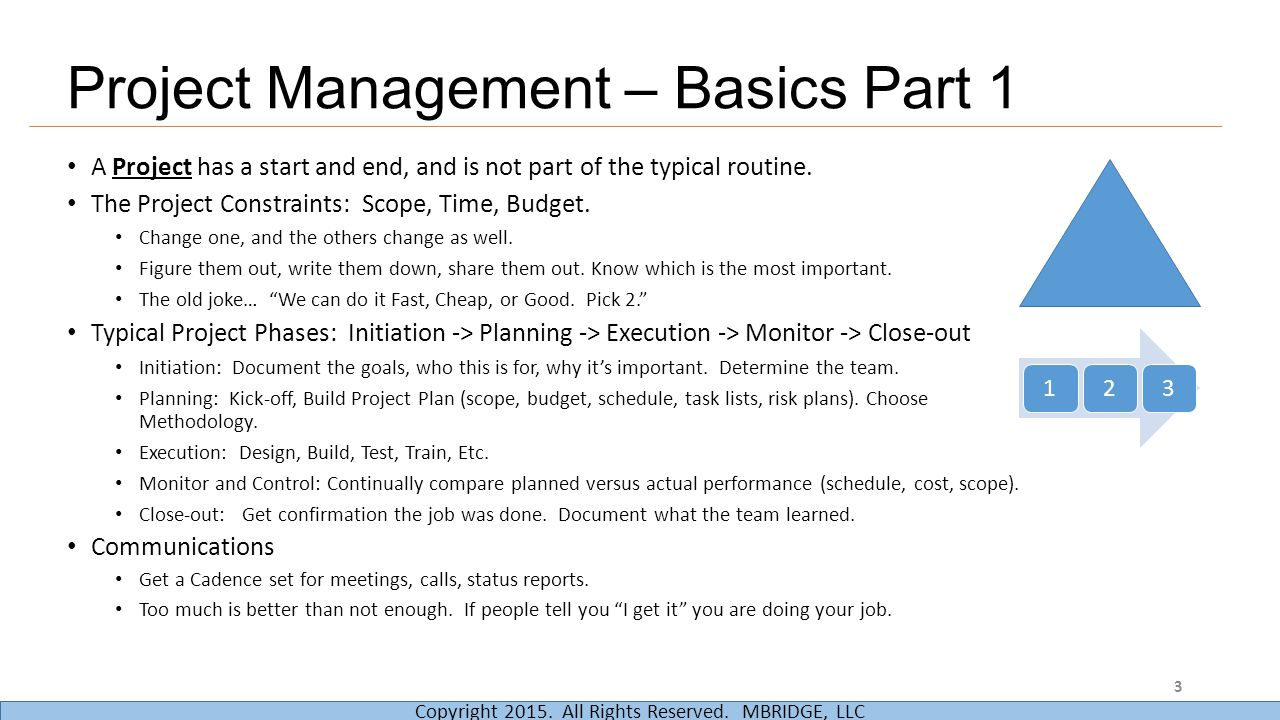 Project Management – Basics Part 1