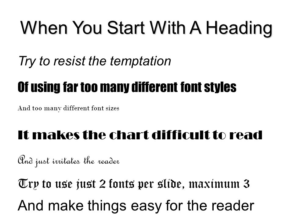 When You Start With A Heading