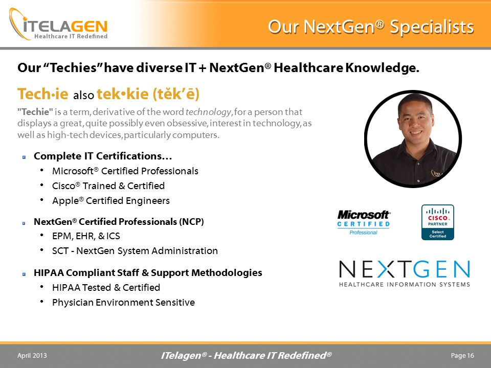 Our NextGen® Specialists