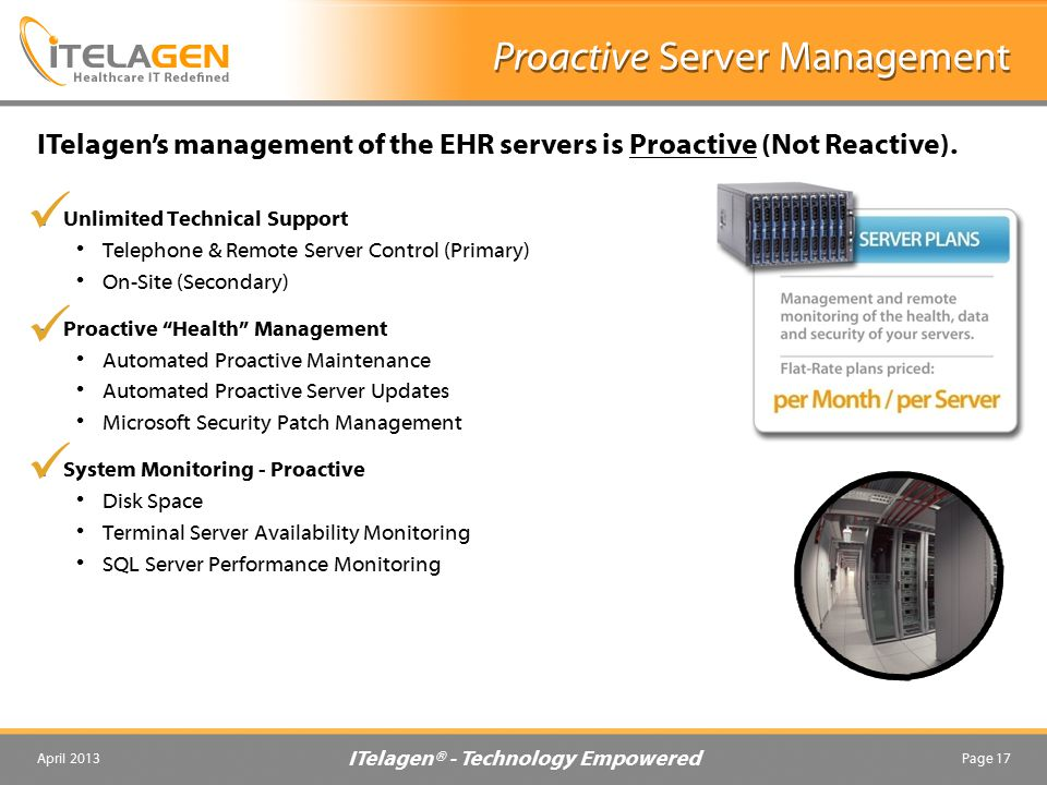 Proactive Server Management