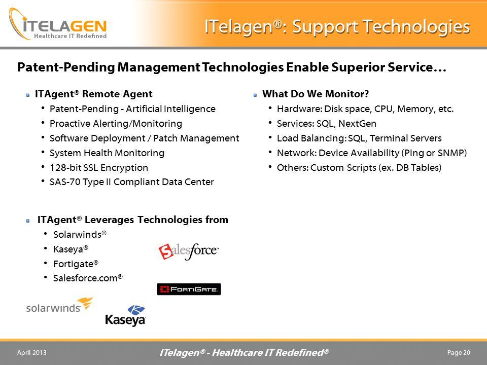 ITelagen®: Support Technologies