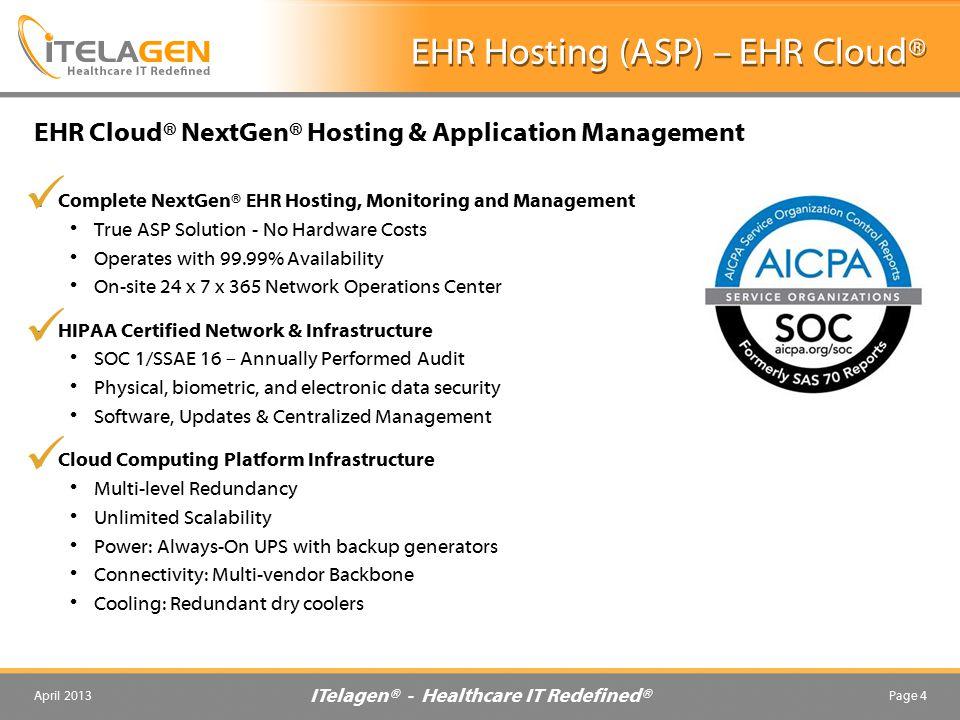 EHR Hosting (ASP) – EHR Cloud®