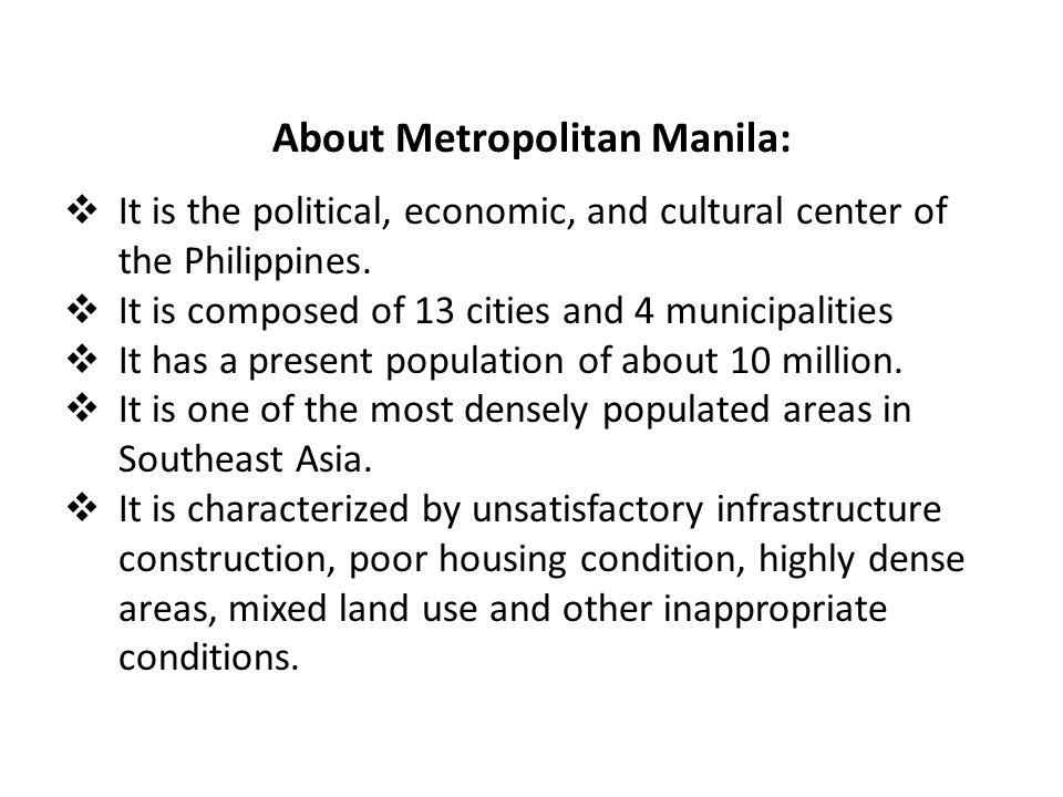 About Metropolitan Manila:
