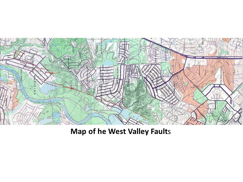 Map of he West Valley Faults