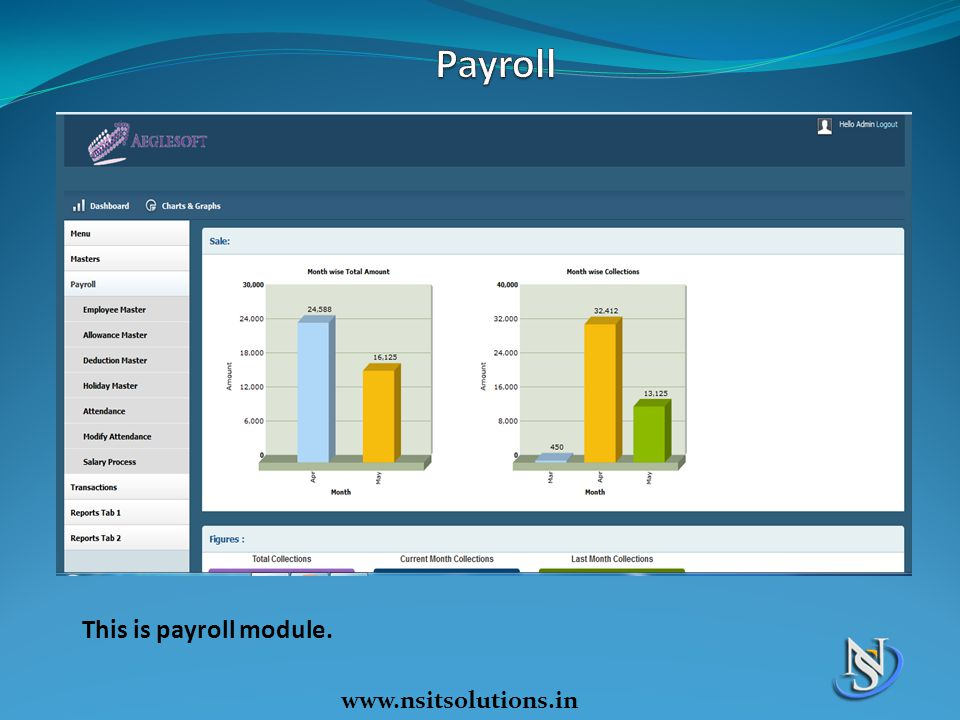 Payroll This is payroll module. www.nsitsolutions.in