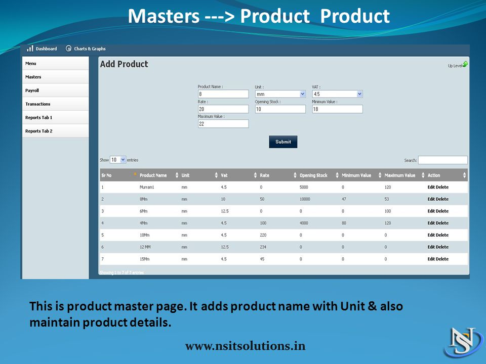 Masters ---> Product Product
