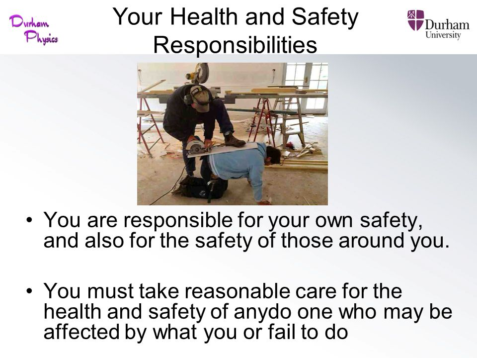 Your Health and Safety Responsibilities