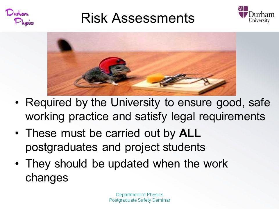 Postgraduate Safety Seminar