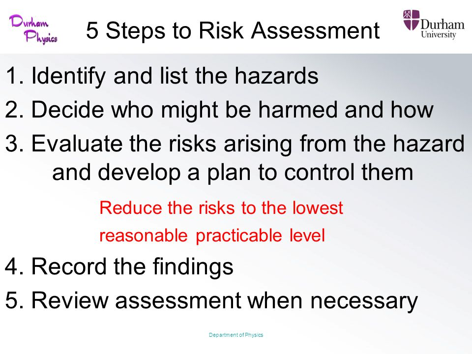 5 Steps to Risk Assessment