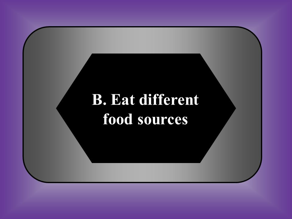 B. Eat different food sources