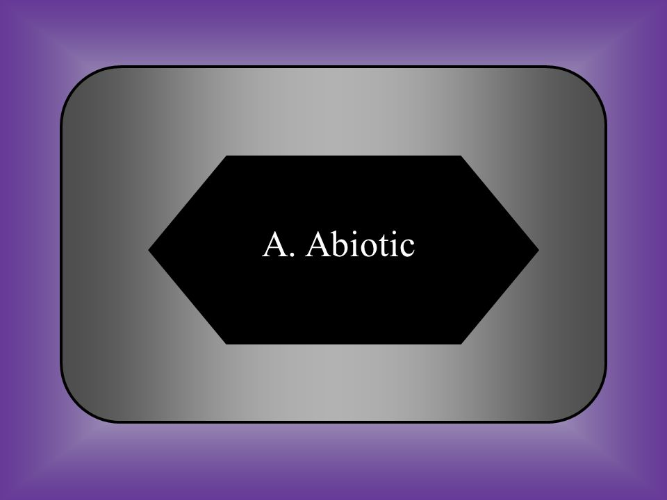 A. Abiotic