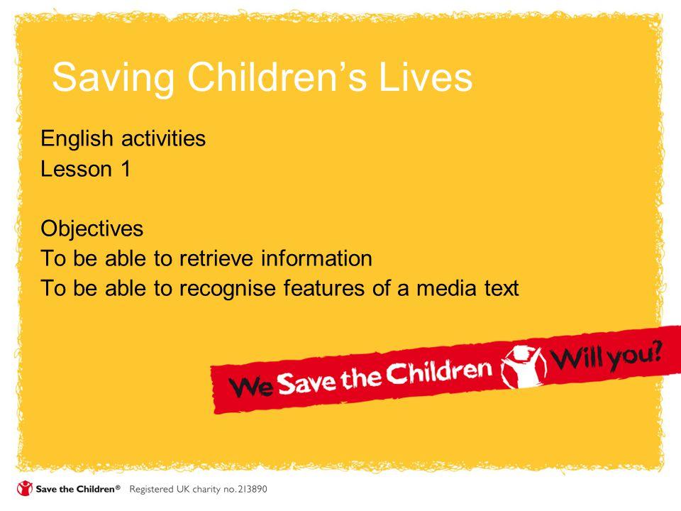 Saving Children's Lives